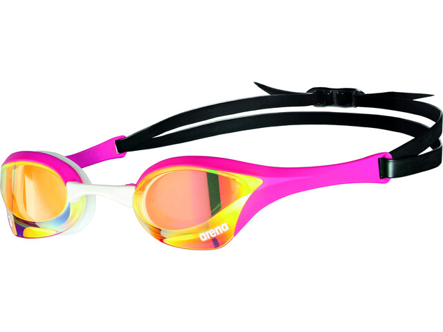 arena Cobra Ultra Swipe Mirror Goggles yellow copper/pink